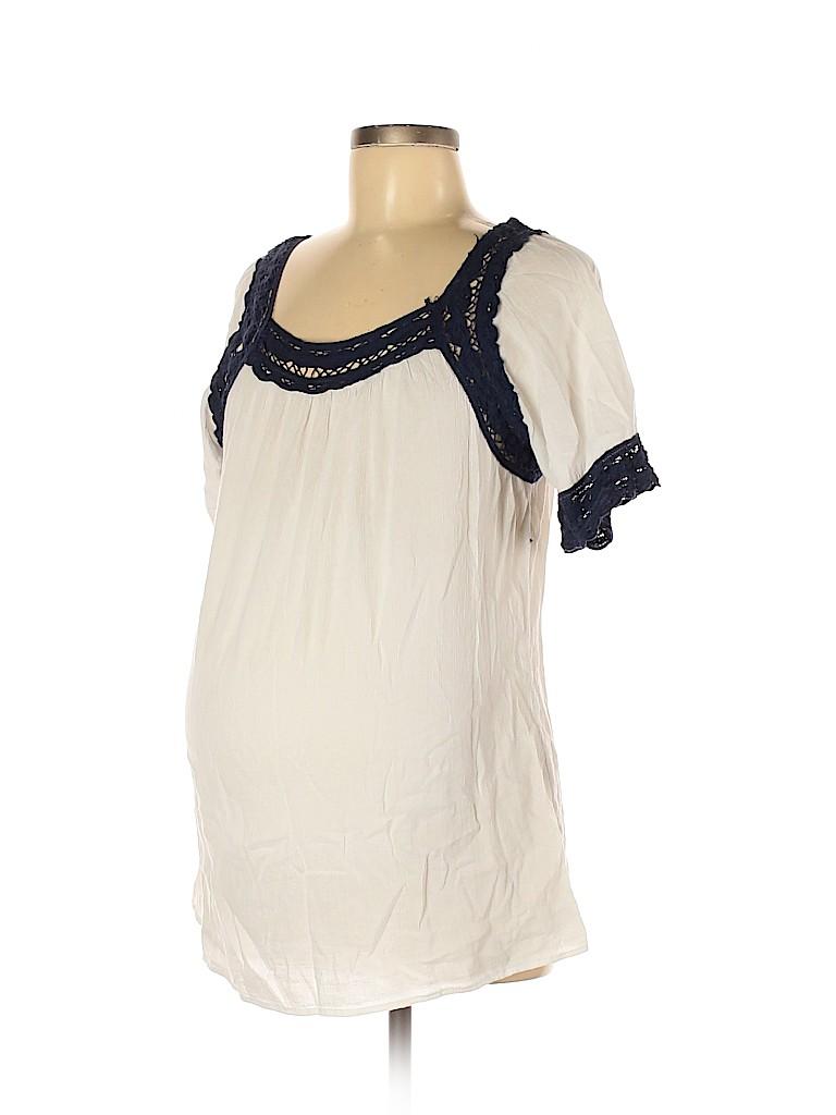 Jessica Simpson Maternity Women Short Sleeve Blouse Size M (Maternity)