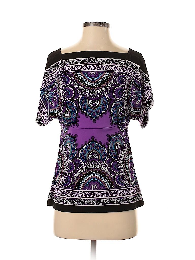 Cache Women Short Sleeve Top Size S