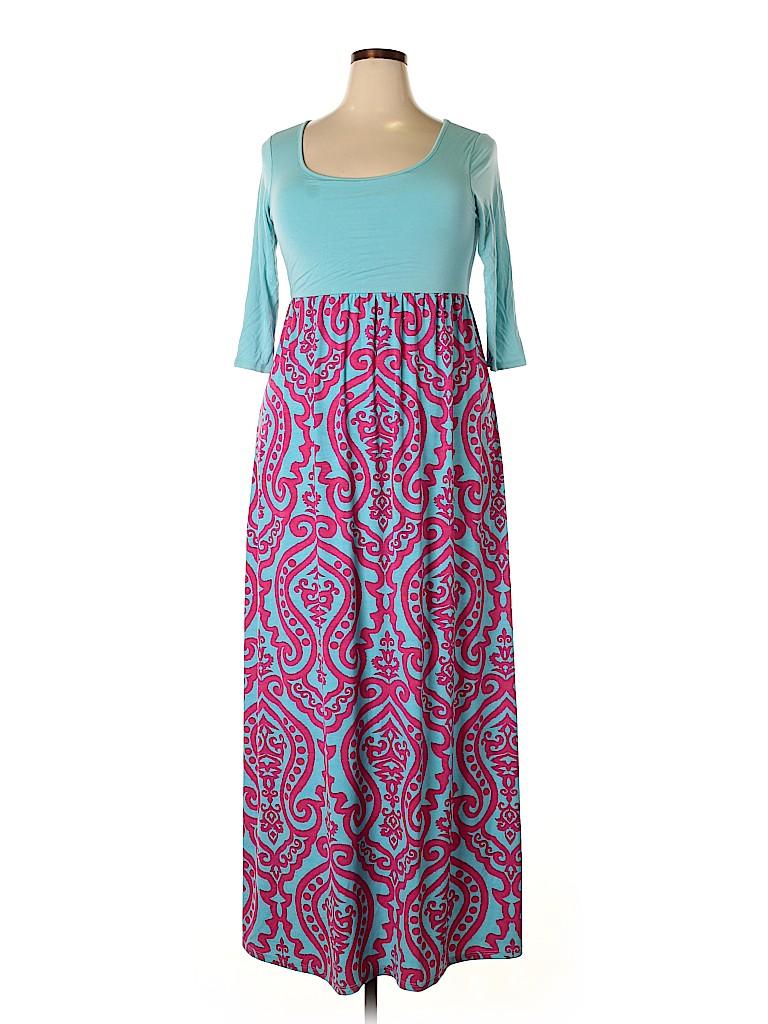 Pink Blush Women Casual Dress Size 1X (Plus)