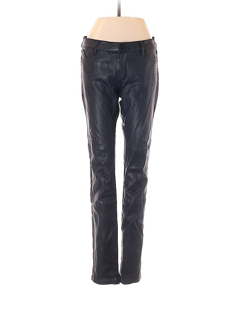 Superfine Women Faux Leather Pants 26 Waist