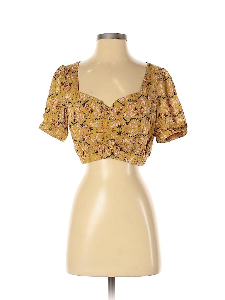 NLW Women Short Sleeve Blouse Size S