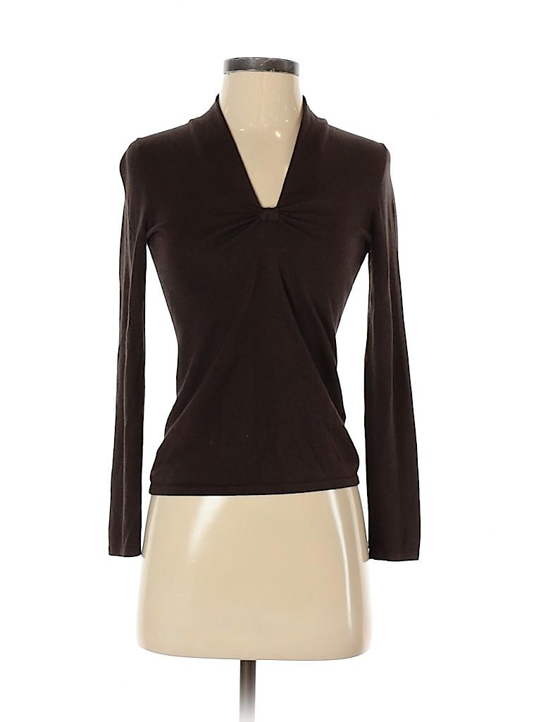 Banana Republic Women Long Sleeve Silk Top Size XS