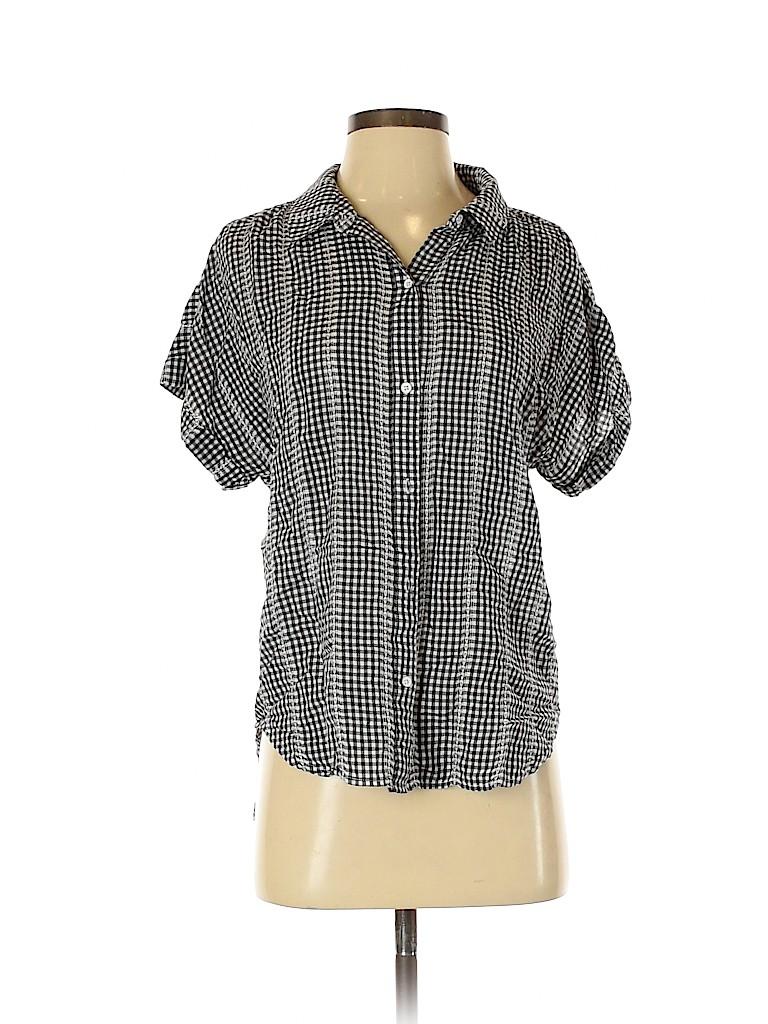 Cloth & Stone Women Short Sleeve Button-Down Shirt Size S