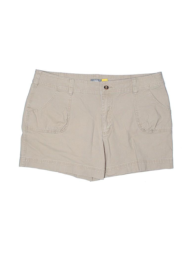 Cabela's Women Khaki Shorts Size 18 (Plus)