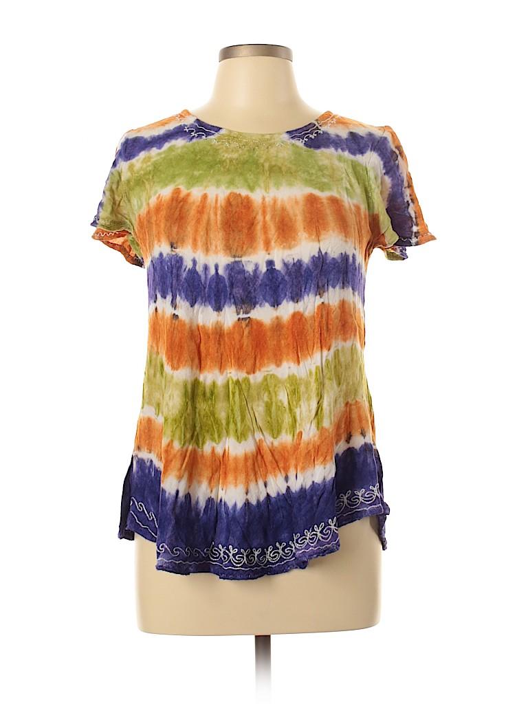 India Boutique Women Short Sleeve Blouse One Size