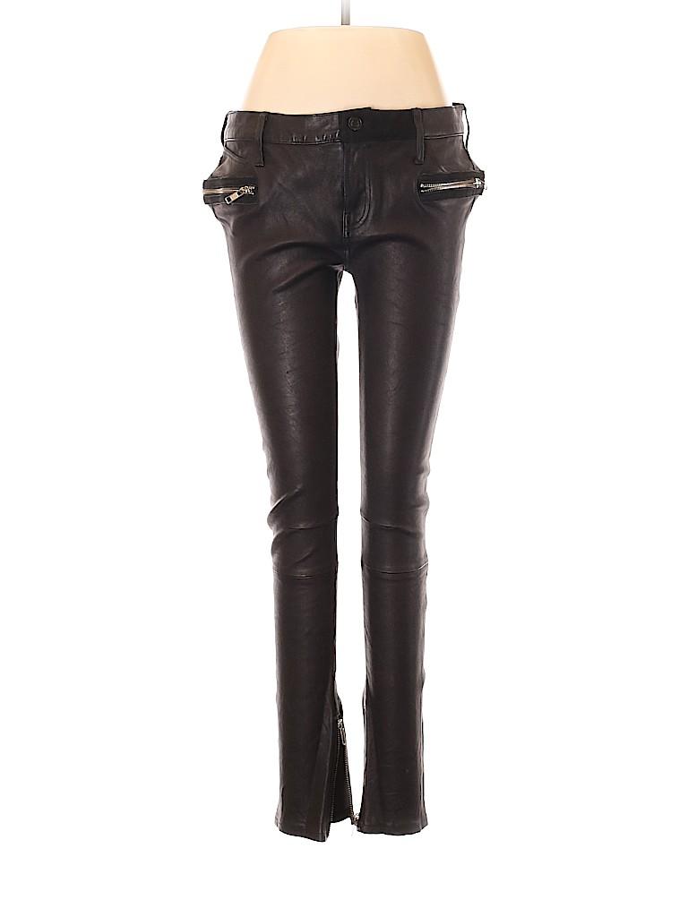 RtA Denim Women Leather Pants 29 Waist