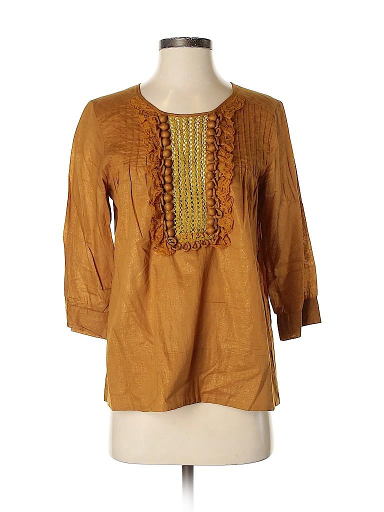 BCBGMAXAZRIA Women 3/4 Sleeve Blouse Size S