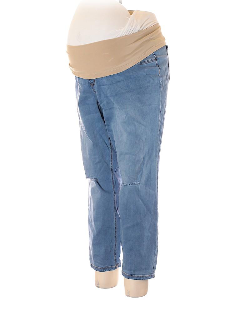 Indigo Blue Women Jeans Size 3X (Maternity)