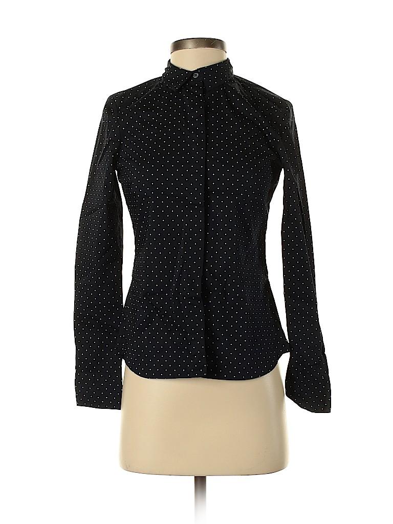 H&M Women Long Sleeve Button-Down Shirt Size 4