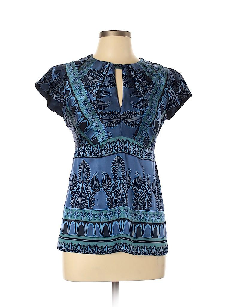 Nanette Lepore Women Short Sleeve Silk Top Size 10