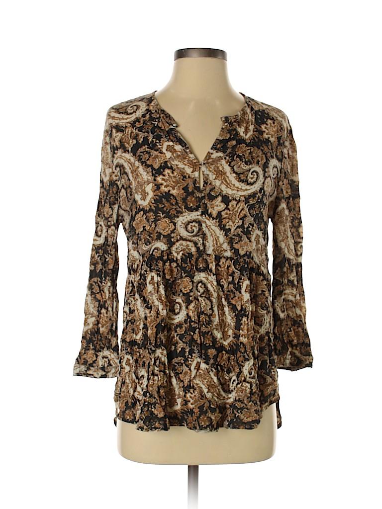Ecote Women 3/4 Sleeve Blouse Size XS