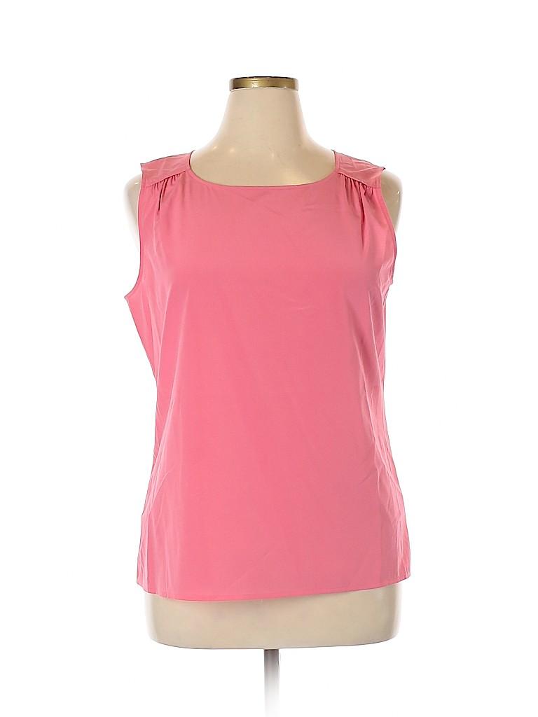 St. John Women Sleeveless Silk Top Size 14