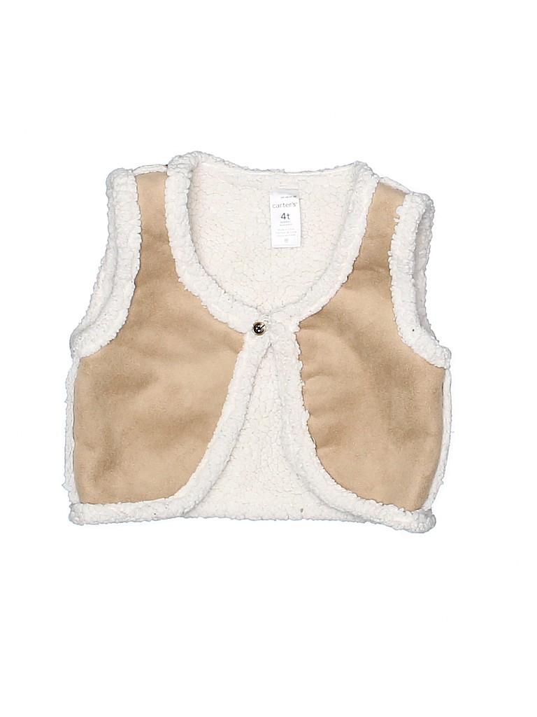 Carter's Girls Faux Fur Vest Size 4T