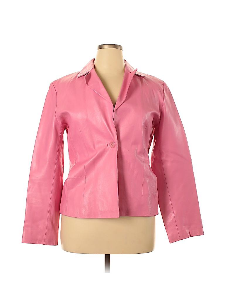 ColeBrook Women Leather Jacket Size XL