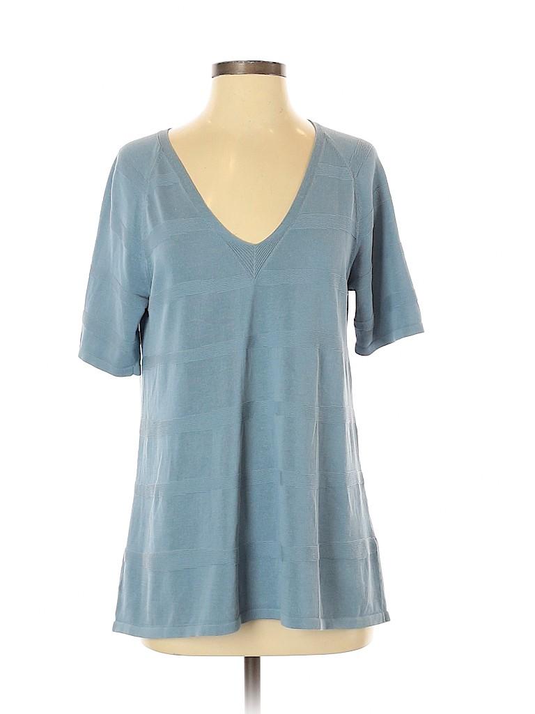 Lafayette 148 New York Women Short Sleeve Top Size M
