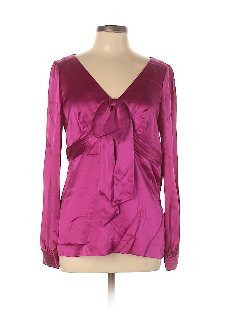 Tory Burch Women Long Sleeve Silk Top Size 10