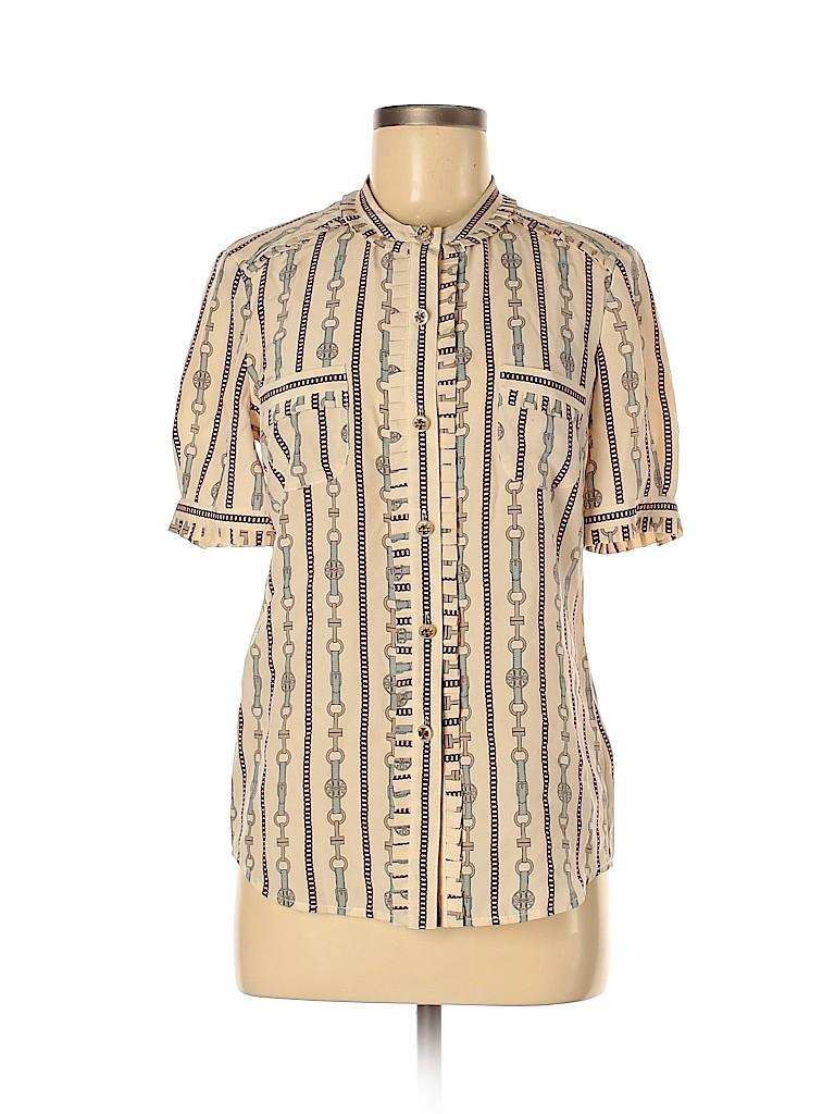 Tory Burch Women Short Sleeve Silk Top Size 6
