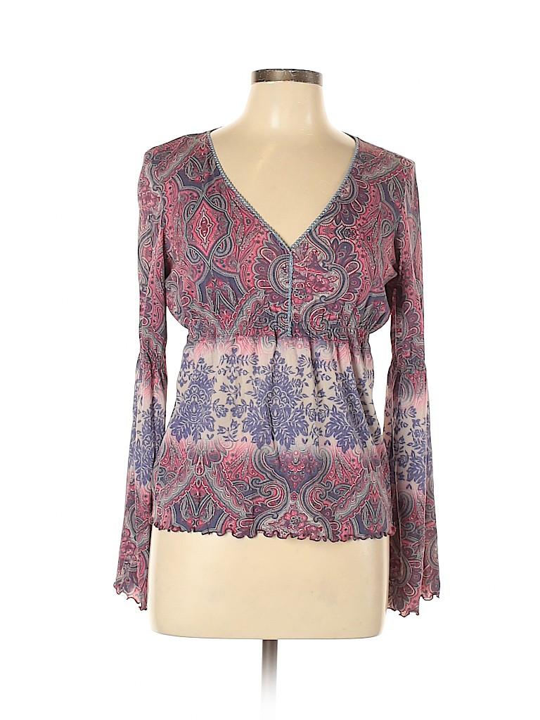 INC International Concepts Women Long Sleeve Blouse Size L