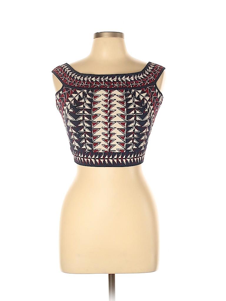 BCBGMAXAZRIA Women Short Sleeve Top Size L