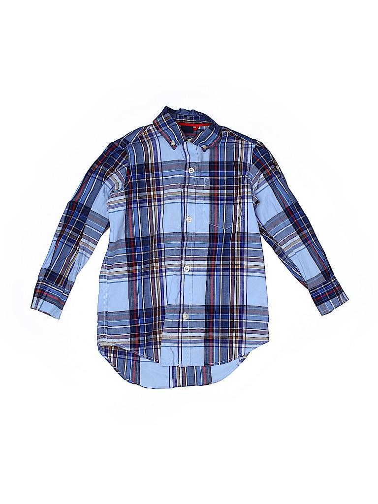 Gap Kids Boys Long Sleeve Button-Down Shirt Size 4 - 5