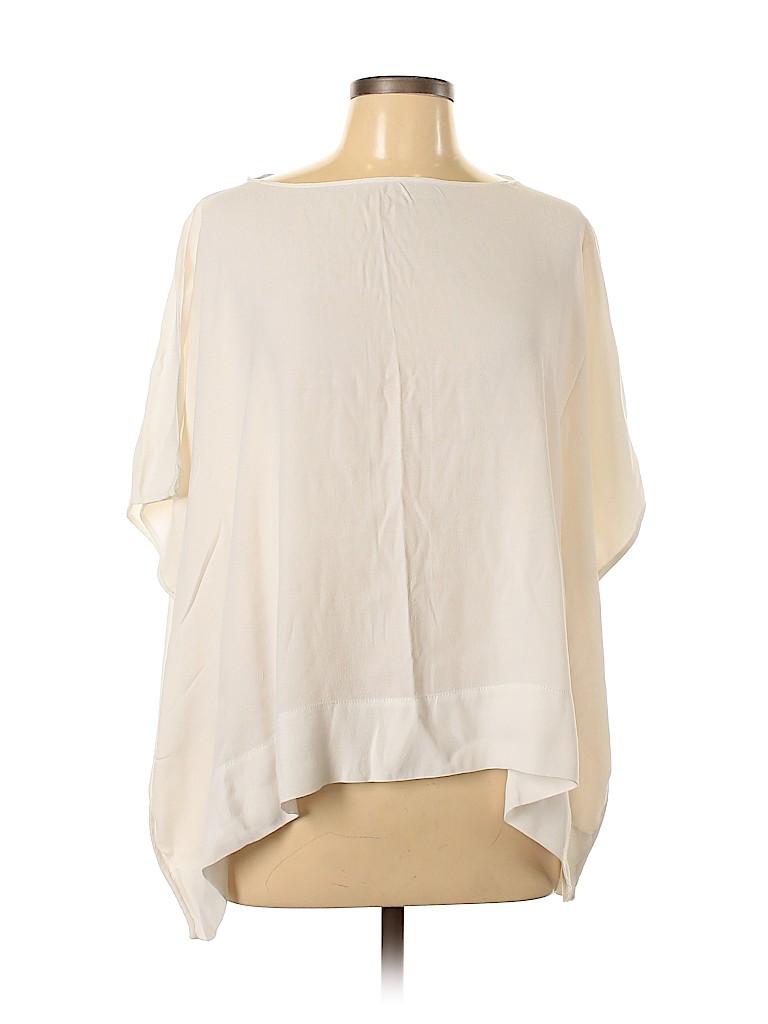 Diane von Furstenberg Women Short Sleeve Blouse Size L