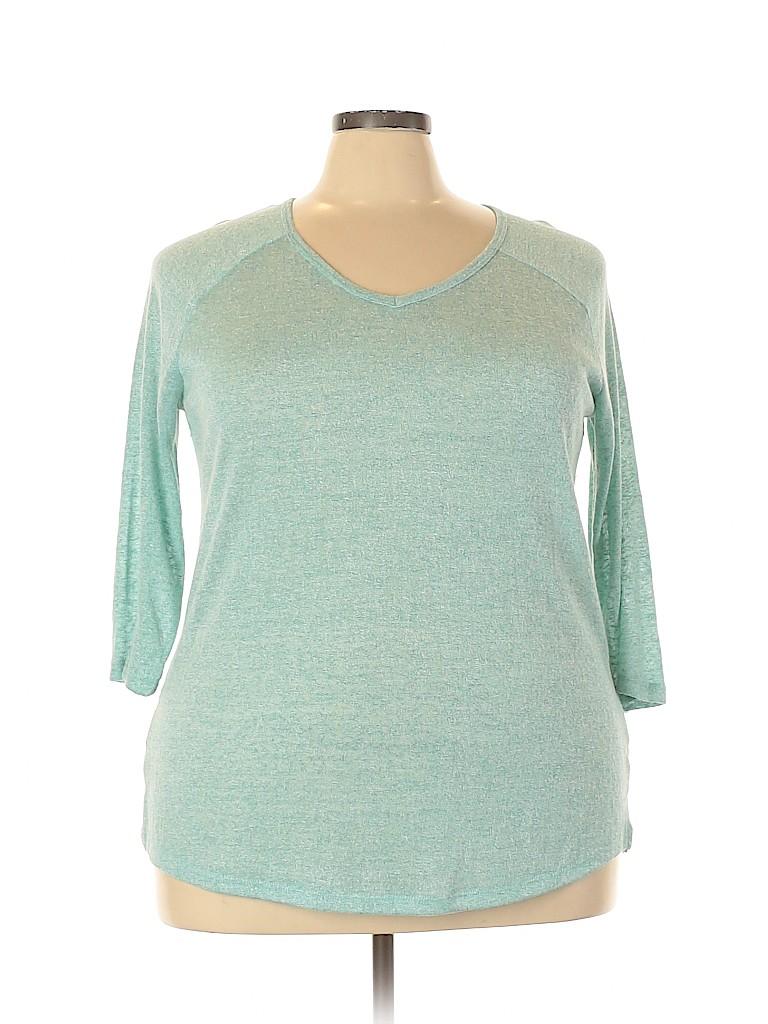Faded Glory Women 3/4 Sleeve T-Shirt Size XXL