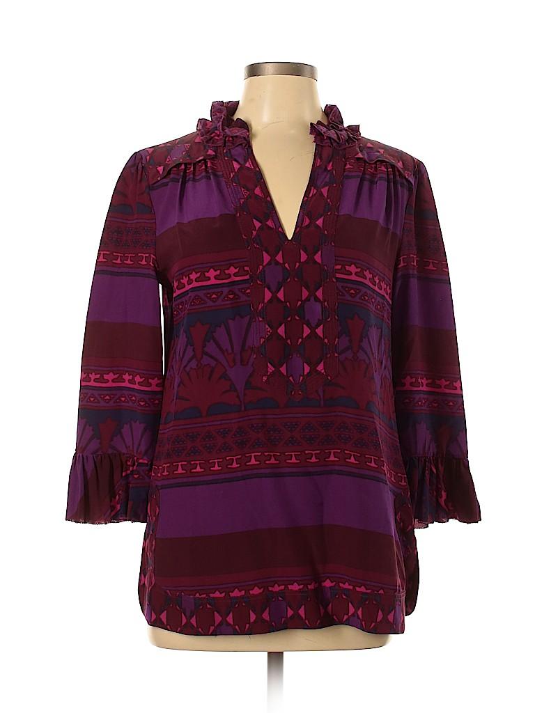 Tory Burch Women 3/4 Sleeve Blouse Size 10