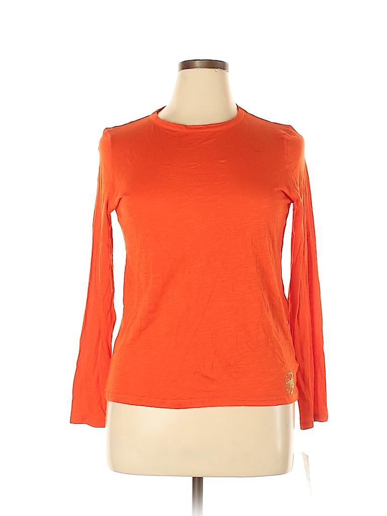 MICHAEL Michael Kors Women Long Sleeve T-Shirt Size 0X (Plus)