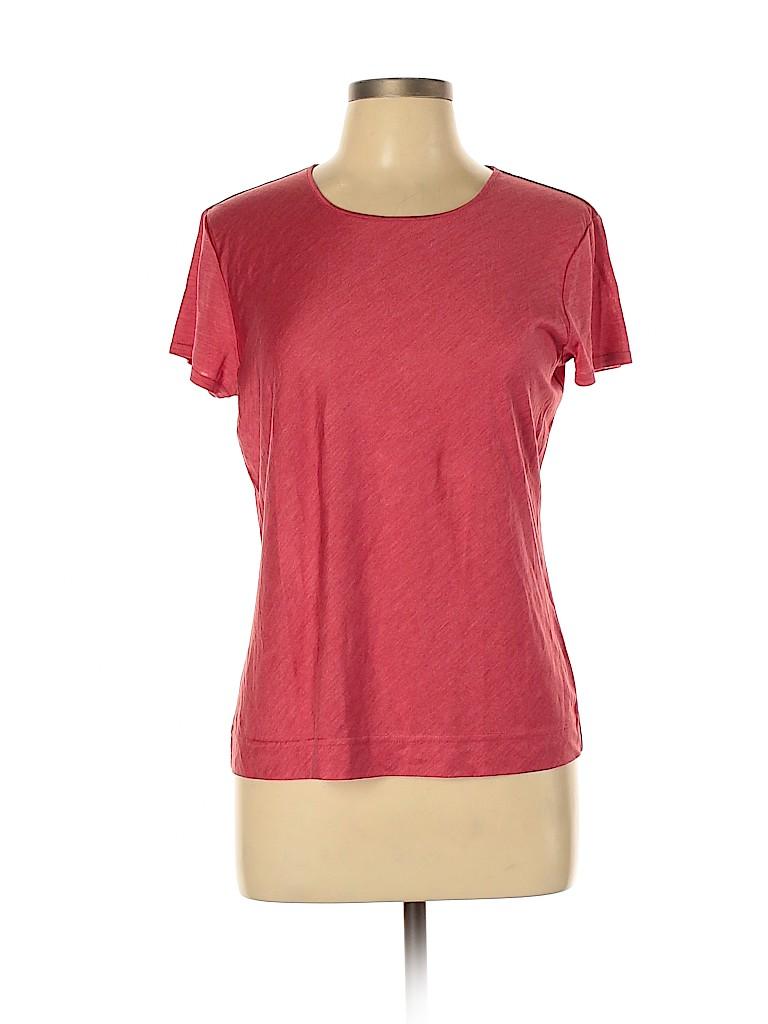 Talbots Women Short Sleeve Silk Top Size L