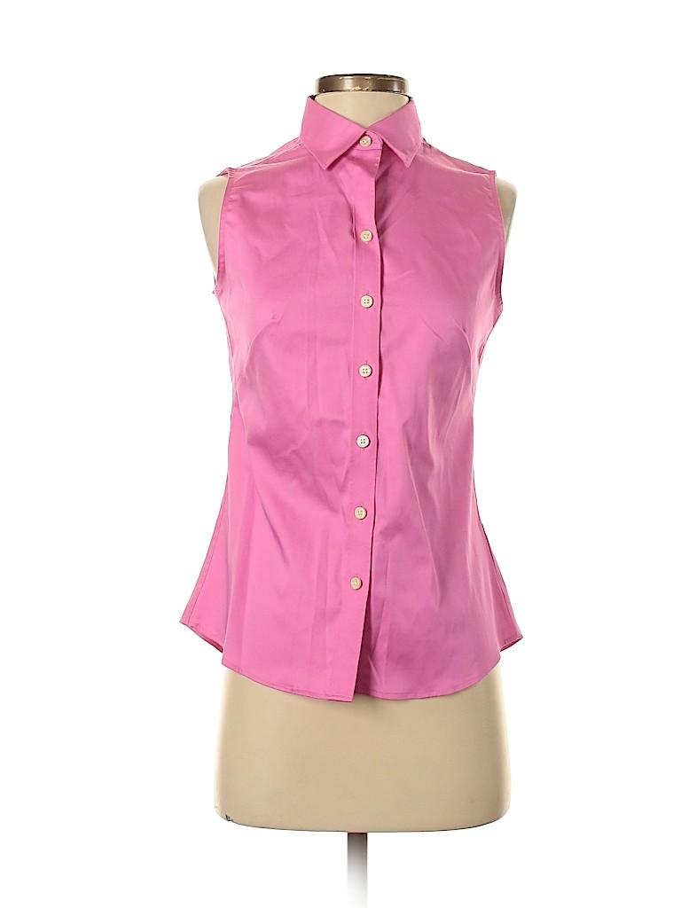 Banana Republic Factory Store Women Sleeveless Button-Down Shirt Size 2