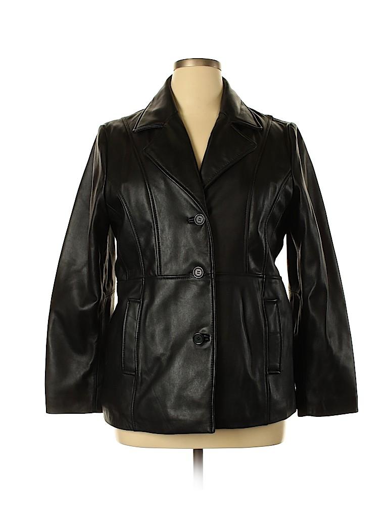 Wilsons Leather Women Leather Jacket Size XL