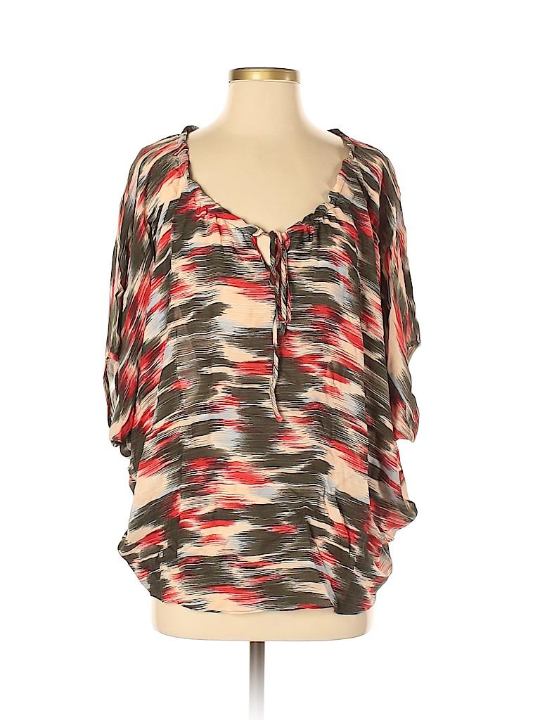 Parker Women Short Sleeve Silk Top Size XS