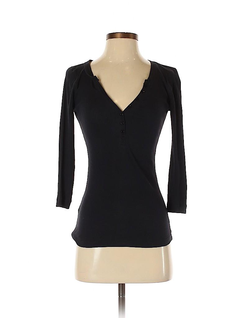 Ann Taylor LOFT Women 3/4 Sleeve Henley Size XS