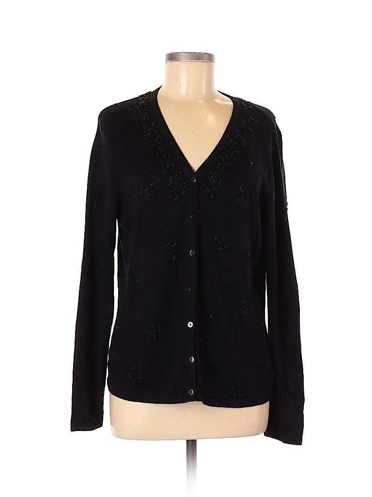 Talbots Women Silk Cardigan Size L