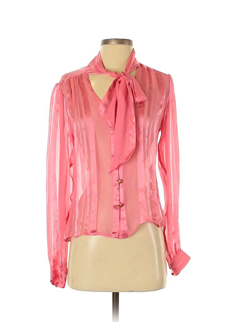 Milly Women Long Sleeve Blouse Size 4