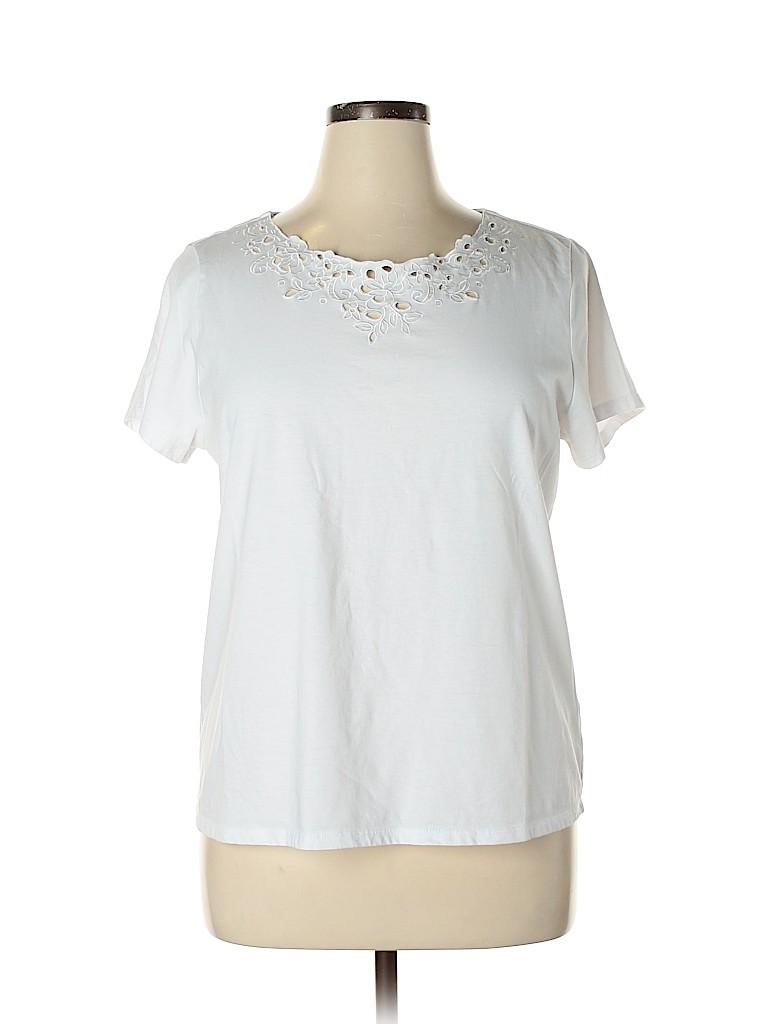 Laura Scott Women Short Sleeve Top Size XL