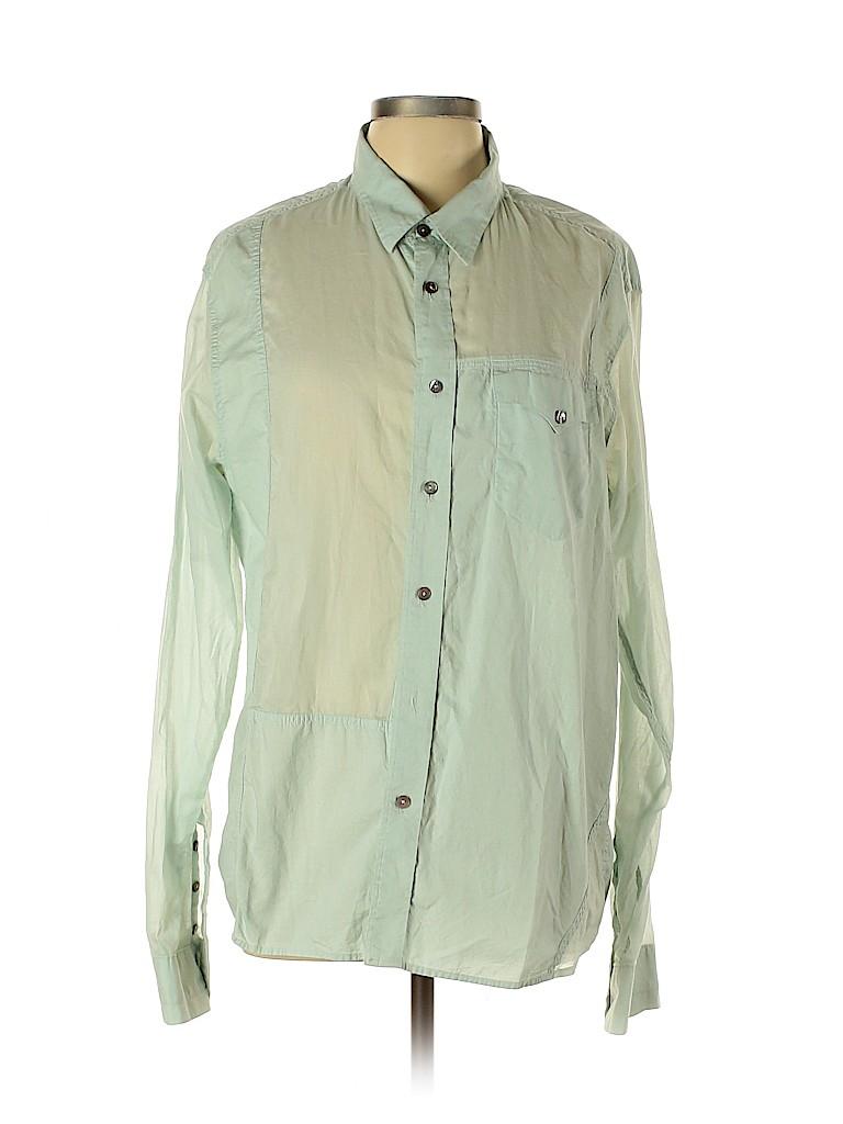 Edun Women Long Sleeve Button-Down Shirt Size L