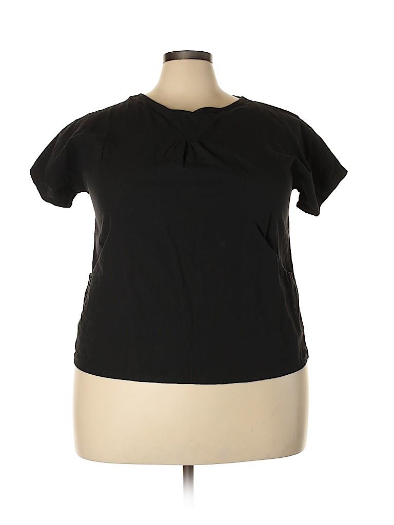Assorted Brands Women Short Sleeve T-Shirt Size 3X (Plus)