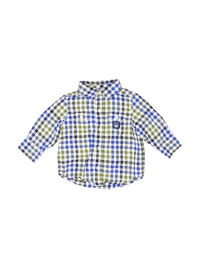 Gymboree Boys Long Sleeve Button-Down Shirt Size 6-12 mo