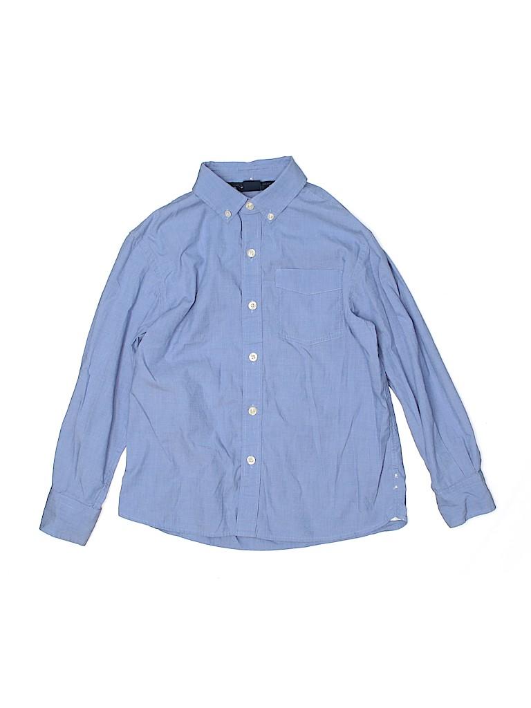 Gap Kids Boys Long Sleeve Button-Down Shirt Size M (Youth-Husky)