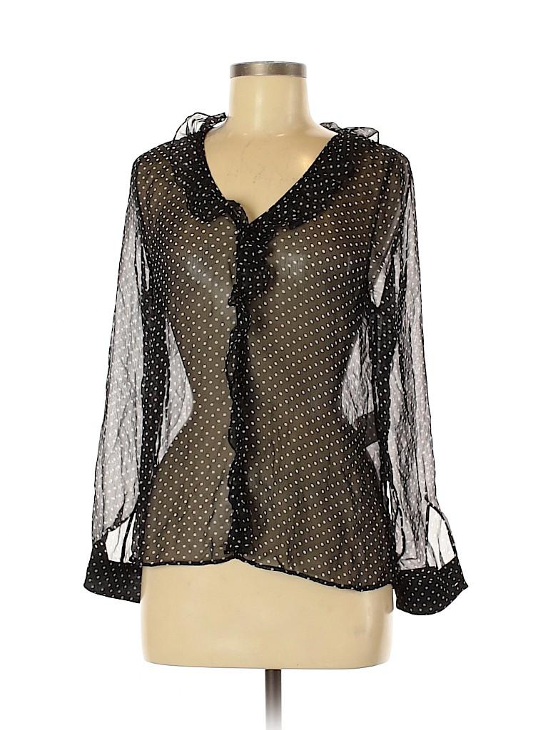 Sézane Women Long Sleeve Silk Top Size 38 (EU)