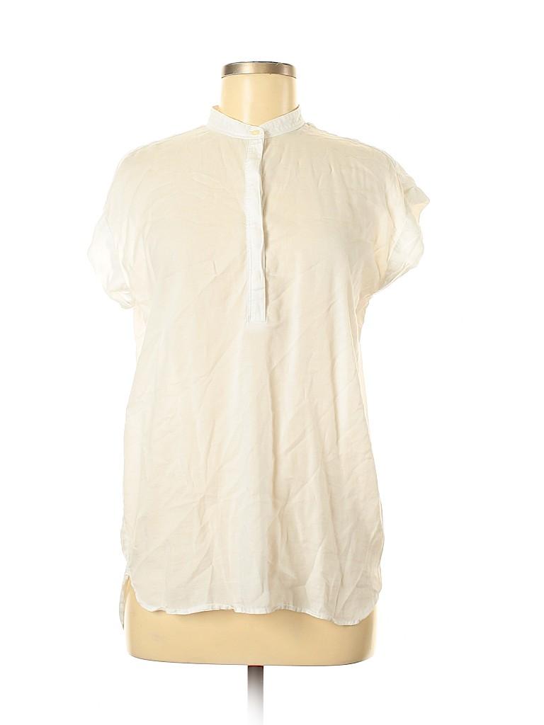 Gap Women Short Sleeve Button-Down Shirt Size M