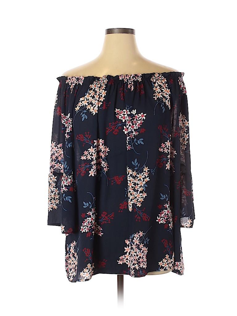 Violet & Claire Women 3/4 Sleeve Blouse Size 3X (Plus)