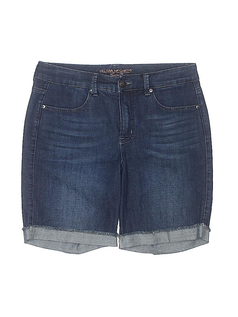 Melissa McCarthy Seven7 Women Denim Shorts Size 14
