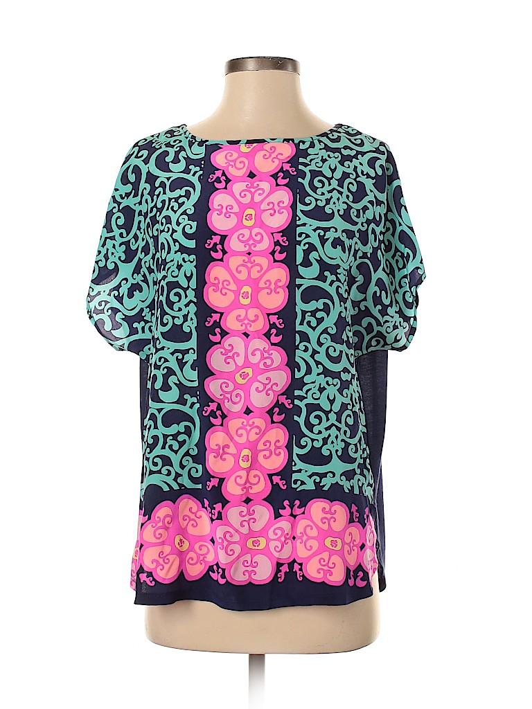 Lilly Pulitzer Women Short Sleeve Silk Top Size XS - Sm