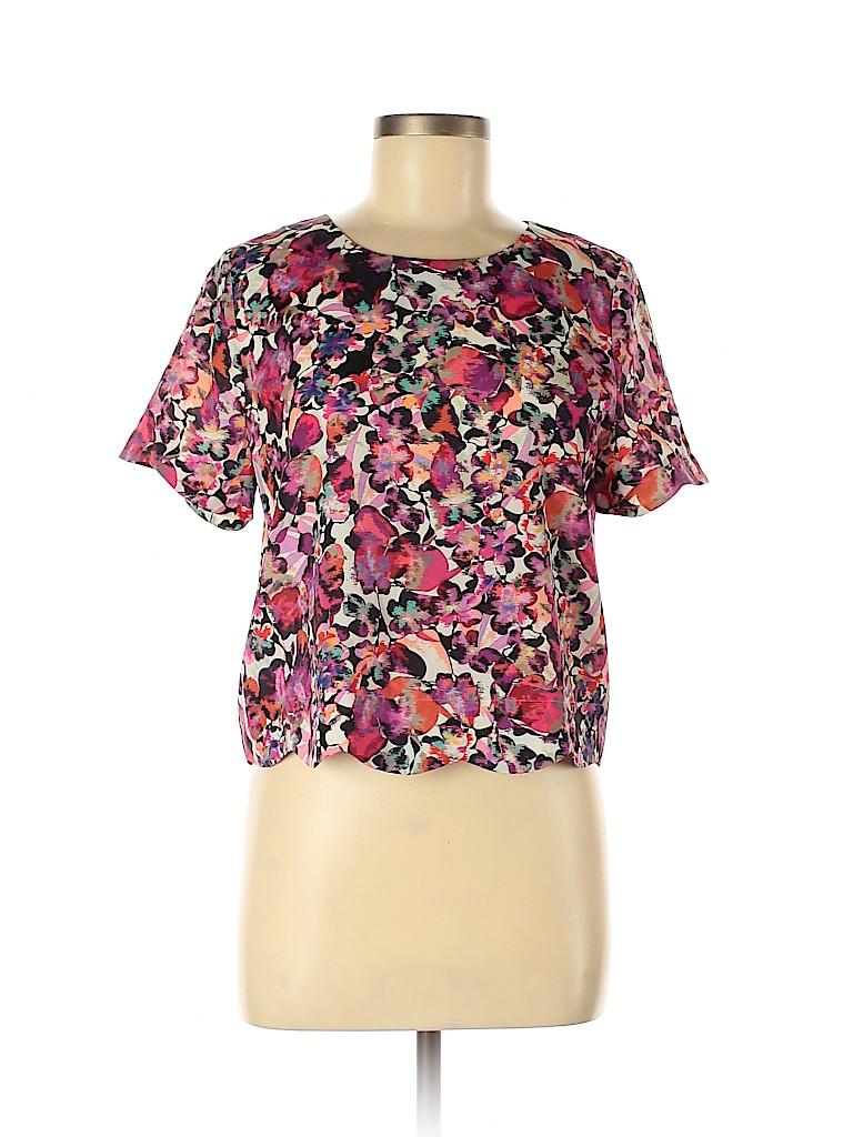 Collective Concepts Women Short Sleeve Blouse Size M