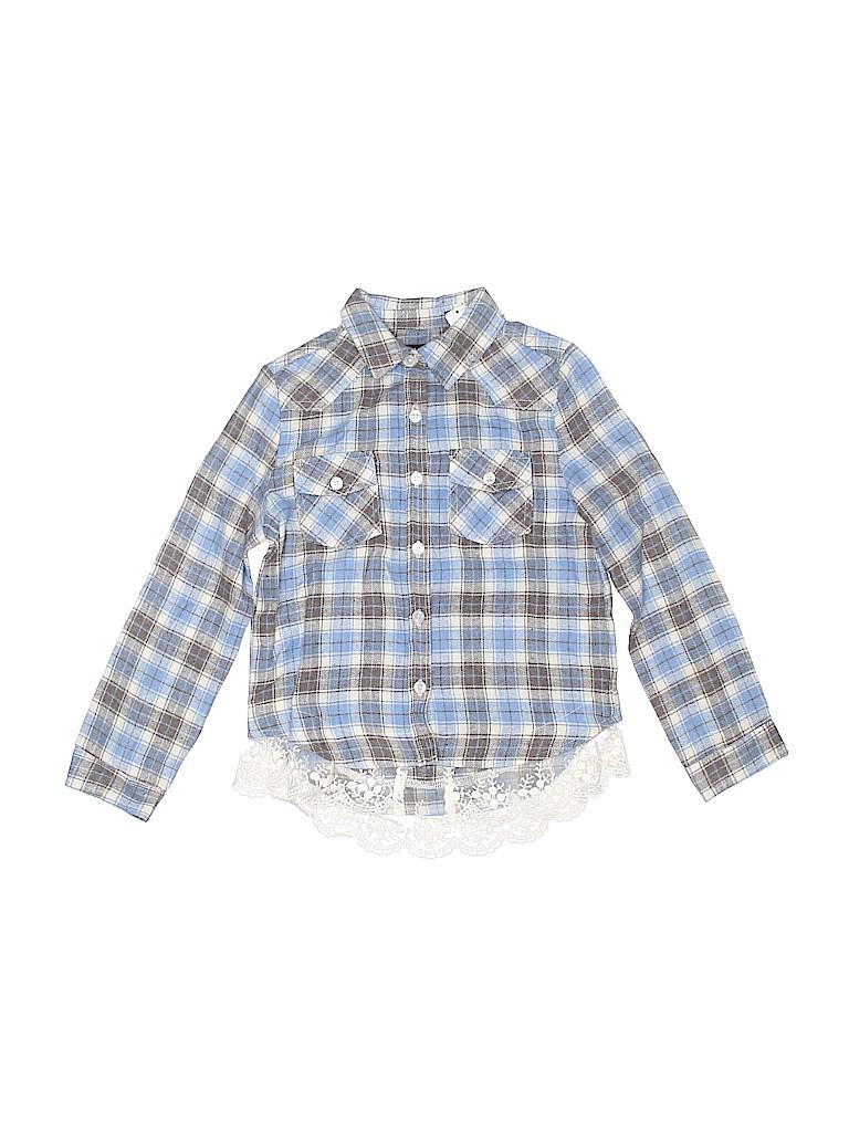Kidpik Girls Long Sleeve Button-Down Shirt Size 6