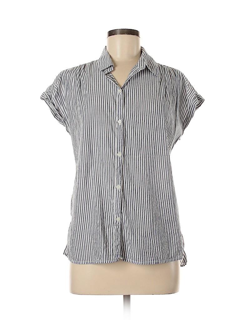 Old Navy Women Short Sleeve Button-Down Shirt Size M