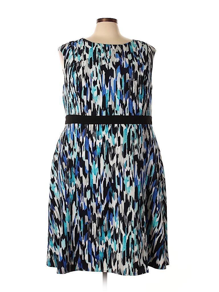 London Times Women Casual Dress Size 24 (Plus)