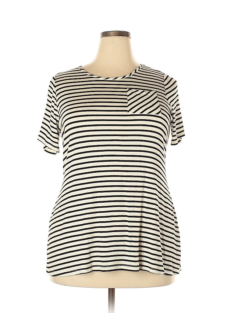 Molly & Isadora Women Short Sleeve Top Size 1X (Plus)